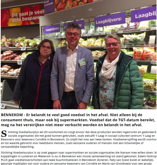 PLUS Holtrop steunt Bennekomse eetprojecten