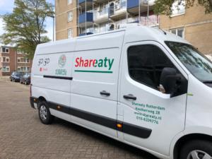 Distributiecentrum Shareaty bus