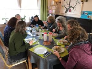 Sociaal restaurant gezamenlijke maaltijd